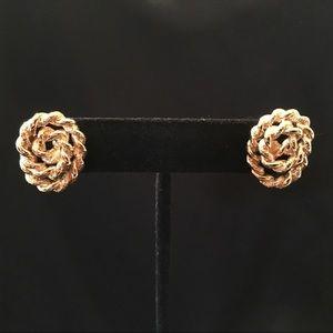 Monet Gold Spiral Earrings